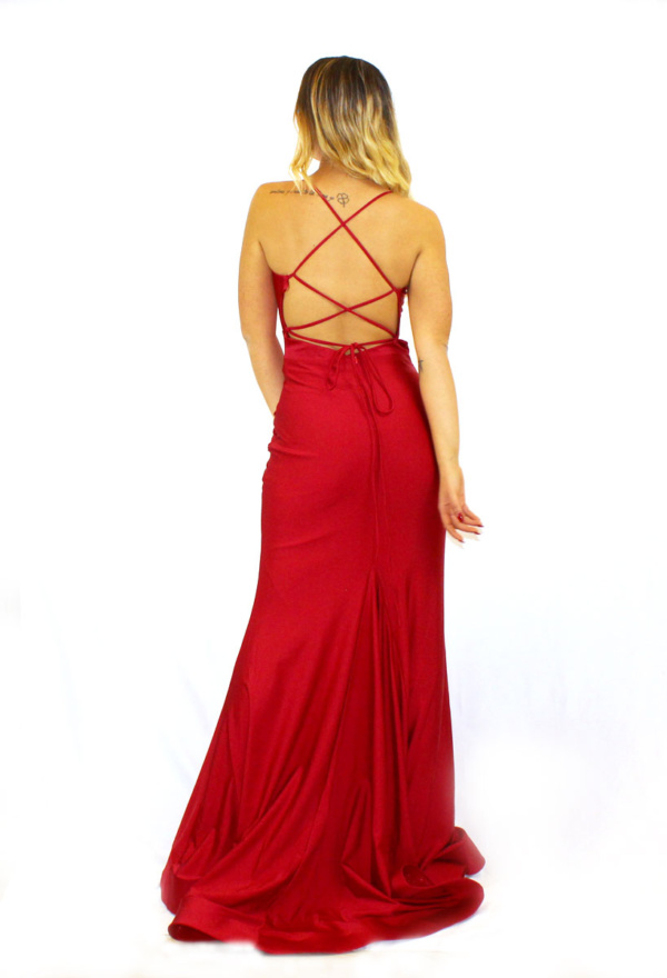 abito-rosso-raso